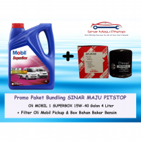 Paket Bundling Oli Mobil 1 Superbox 15W-40 Galon 4 L & Filter Oli Minivan & Pickup Original Made In Singapore