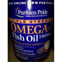 Omega 3 Fish Oil 1360 mg 120 Softgels Puritans USA