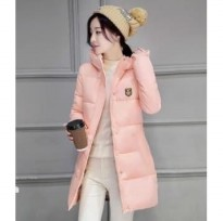 JC902 Light Pink | Jaket winter long coat korea import high quality