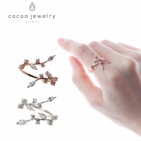 Cocoa Jewelry Cincin Tinker Bell Rose Gold & Silver - No Box