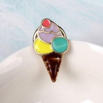 RFSBRS011 Summer Style Coconut Flamingo Coffee Cup Brooch Yellow+Purple+Green+Brown