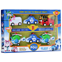 Policar New Season Is Coming Out - Mainan Policar 6pcs Multicolour - Ages 3+