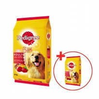 Buy 1 Free 1 PEDIGREE Beef & Vegetable 10kg FREE DentaStix 10 pcs/Sheeba Cat Food