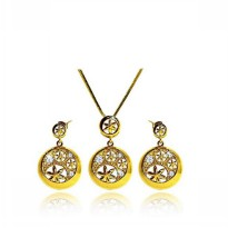 Afina Jewelry Round Shape Mini Korean Necklace Gold