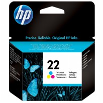 HP 22 Color Ink Cartridge Tinta Printer