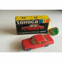 gun tomica black box japan 1 nissan bluebird SSS coupe merah gelap