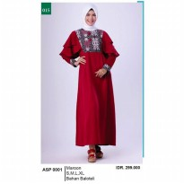 Busana muslim wanita/Gamis/Long Dress wanitaGarsel Fashion ASP 0001 MAROON