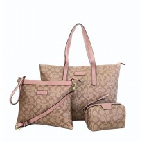 Authentic Coach Sophia Jacquard 3 in 1 Set - Pink