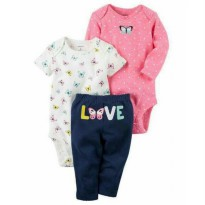 (Limited) CARTER'S Set 3 in 1 JUMPER + PANTS (BUTTERFLY)