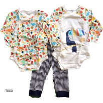 (Murah) MOM'S CARE Long Jumper & Pants Set 3 in 1 ( TOCO)