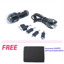 GHANA CHARGER MOBIL FOR CAR 4 IN 1 FREE Kenmaster Karpet Anti slip