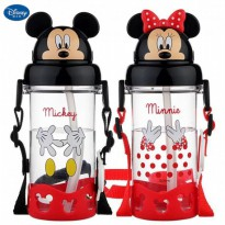 Botol Minum Mickey Minnie 3D Disney Original Drinking Bottle Water BPA Free 400ml Anti Bocor 4242/42