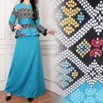 SB Collection Gamis Miyya Longdress Terusan Batik Jumbo – Biru