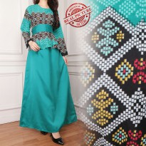 SB Collection Gamis Miyya Longdress Terusan Batik Jumbo – Hijau