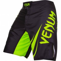 VENUM CHALLENGER FIGHT SHORTS BLACK/NEO YELLOW CELANA MMA GYM BODY COMBAT