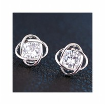 Aksesoris Anting Silver Elegant Twist - RAT1152