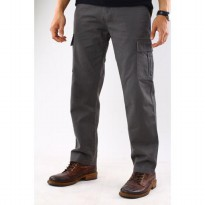 Richie Mens Collections Cargo Celana Panjang - Abu