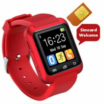 D.I.S.K.O.N U-Watch Original Smartwatch U8 DELTA - GSM SIM CARD - Merah