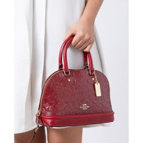Authentic Coach Sierra in Signature Debossed Patent - Red