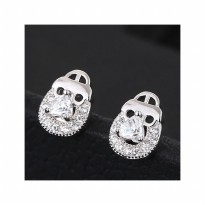 Aksesoris Anting Silver Love Lock - RAT1156