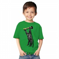 T-Shirt Glory Kaos 3D Kids Kingkong Rope - Hijau Tua