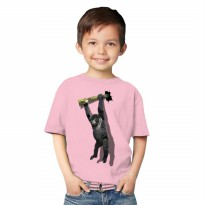 T-Shirt Glory Kaos 3D Kids Kingkong Rope - Pink