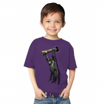 T-Shirt Glory Kaos 3D Kids Kingkong Rope - Ungu Tua