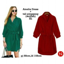 AMELIA DRESS YAN BAHAN WOLFISH FIT TO XL