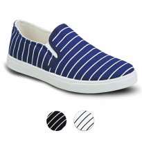 Sepatu Slip-on Casual Roundtoe Canvas Flatform