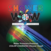 Shower WOW warna Pelangi ~ Led Rainbow Shower Head Tanpa listrik