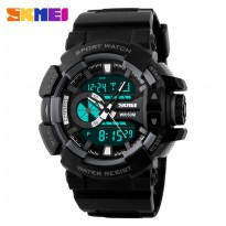Jam Tangan SKMEI Men Sport LED Watch WR 50m - Jam Tangan Pria AD1117 Original