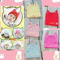 Topi Kupluk Bayi Cat Ear 5 Pilihan Warna - Baby Hat