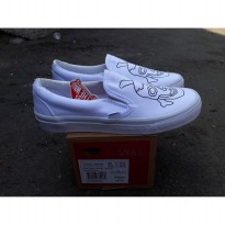 vans slip on culture white wafle dt