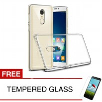 Crystal Case for Xiaomi Redmi Note 4 (Mediatek) - Clear Hardcase + Gratis Tempered Glass