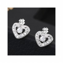 Aksesoris Anting Silver Love Luck - RAT1166