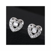 Aksesoris Anting Silver Love XYX - RAT1167