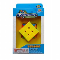 Yongjun Rubik 3x3 Yulong Bright Stickerless Magic Cube - Mainan Rubik Kubus Dus - Ages3+