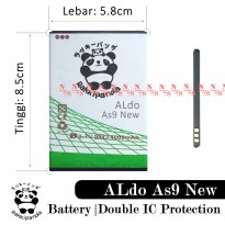 Baterai Aldo As9 As 9 New Double IC Protection