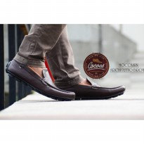 sepatu slip on cocoes architeto brown.