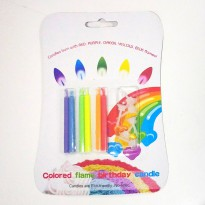 Lilin Ulang Tahun Colorful Birthday Candles Api Warna Color Flames