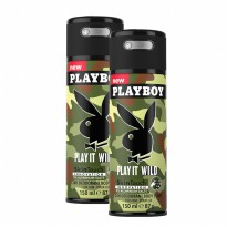 (GET2PCS) Playboy Play it Wild Deo Body Spray 150ml