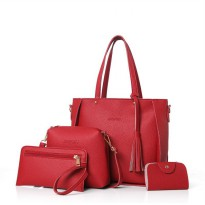TAS FASHION ISI 4 (4IN1) #ELV84313 IMPORT KOREA WITH LONG STRAP