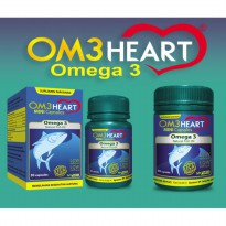 OM3HEART OMEGA 3 NATURAL FISH OIL OMEGA 3 - ISI 60 Capsules