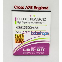 Baterai Battery Log-on Log on Logon Cross A7E England Evercross A-7E Double Power