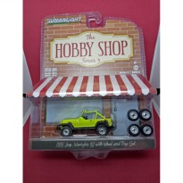 Greenlight Diecast The Hobby Shop Series 3 1991 Jeep Wrangler YJ with Wheel and Tire Set