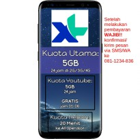 PROMO XL Paket Data Xtra Combo 5GB + 5GB Youtube + 20Menit Tlp All Operator