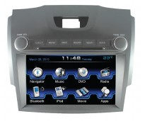 MOBILETECH Head Unit Double Din 7 inch For Colorado - Abu-abu
