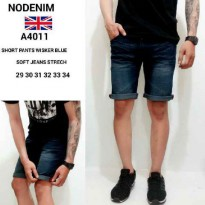 6 Model Short Denim Ripped / Non Ripped Slim Stretchable Size 29-34 | Celana Pendek Jeans Pria