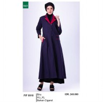 Busana muslim wanita/Gamis/Long Dress wanitaGarsel Fashion FIF 0018 BIRU