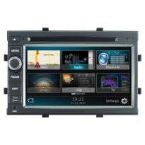 MOBILETECH Head Unit Double Din 7 inch For Spin - Abu-abu